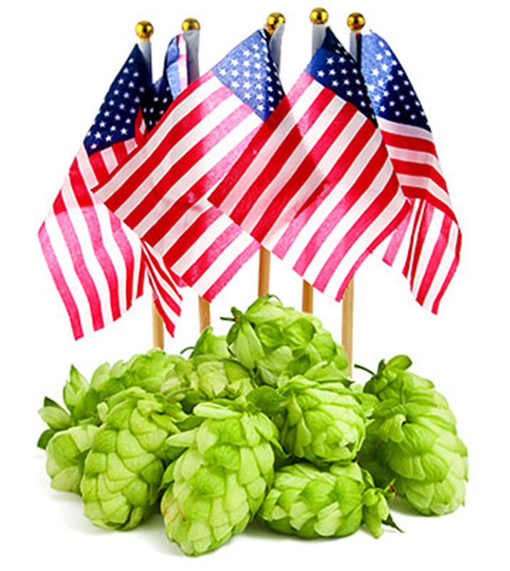 American Hops With American Flag