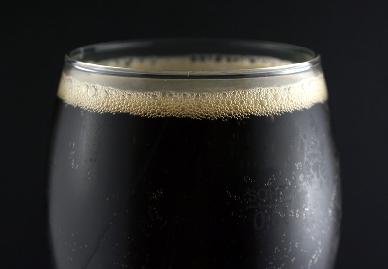Beer made from black lager recipe.