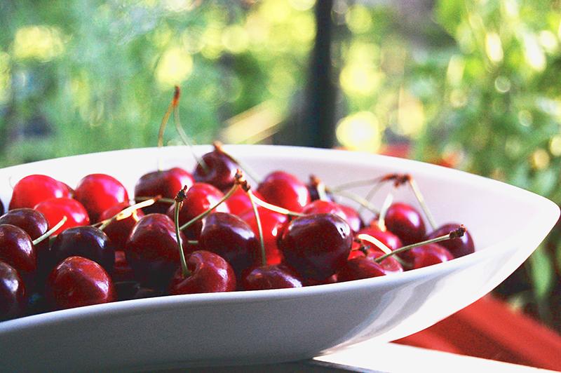 Cherries for making cherry wine.