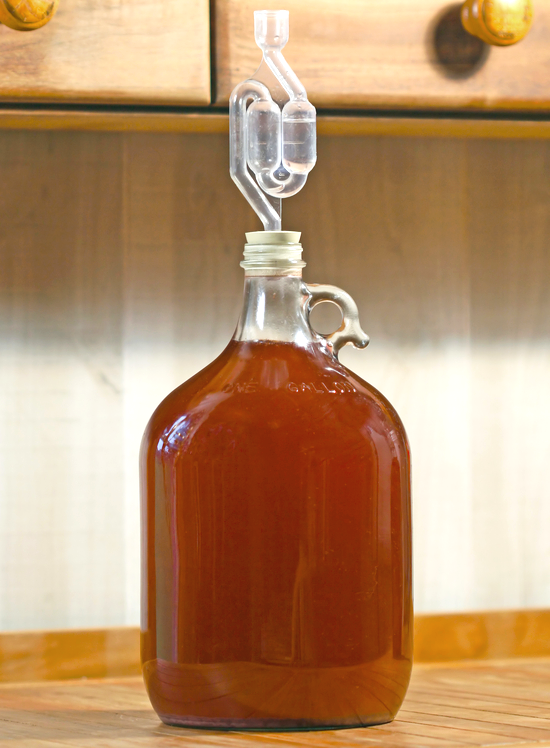 Gallon Of Beer Ready To Be Bottled.
