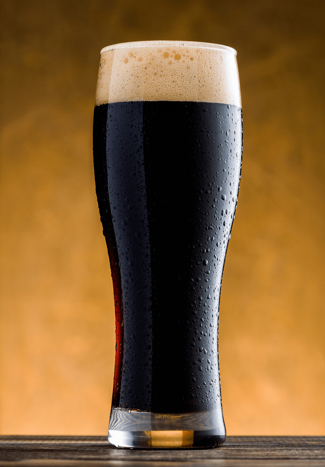 Glass Of Coffee Stout From A Beer Recipe Kit