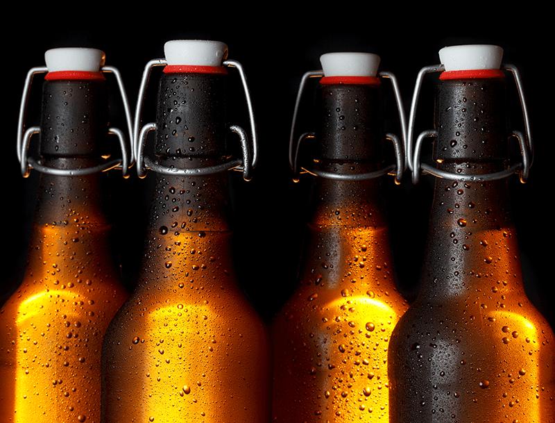 Homebrew Beer In Beer Bottles