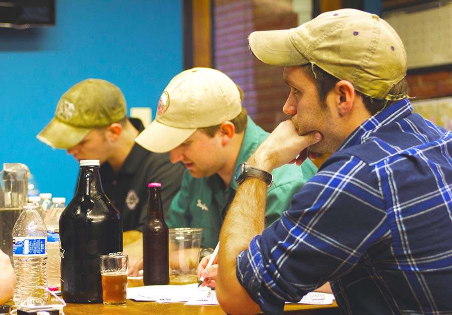 Judges in a homebrew competition.