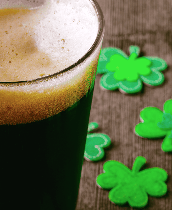 Irish Stout With Clovers