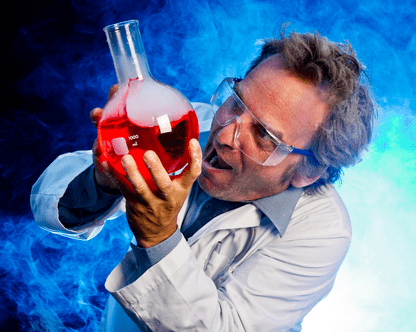 Mad Scientist With Something To Add To Stop A Wine Fermentation
