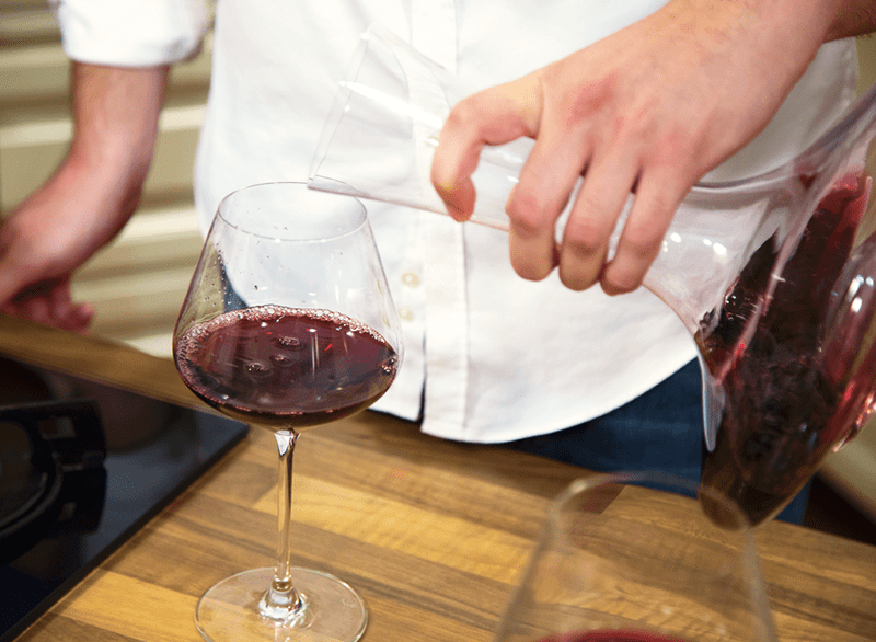 Man Allowing Wine To Breathe