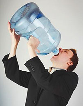 Man Drinking From Carboy