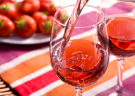 Wine made from strawberry wine recipe.