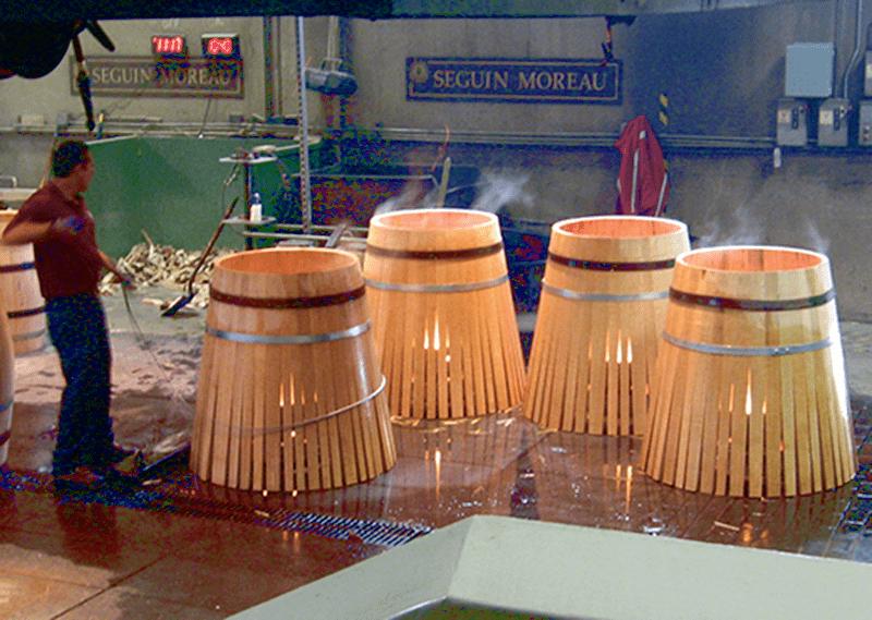 Toasting Oak Barrels