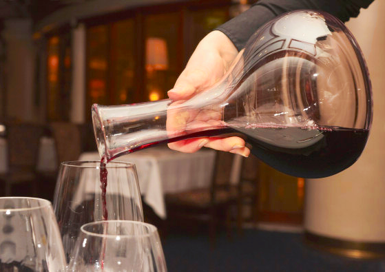 Wine Poured From A Caraf