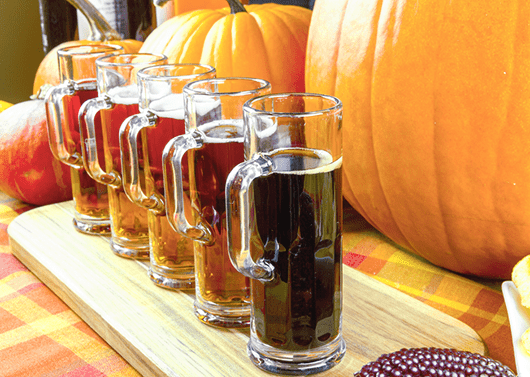 A Flight Of Fall Beers
