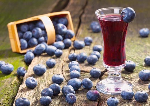 Blueberry Liqueur To Be Added To Homemade Wine