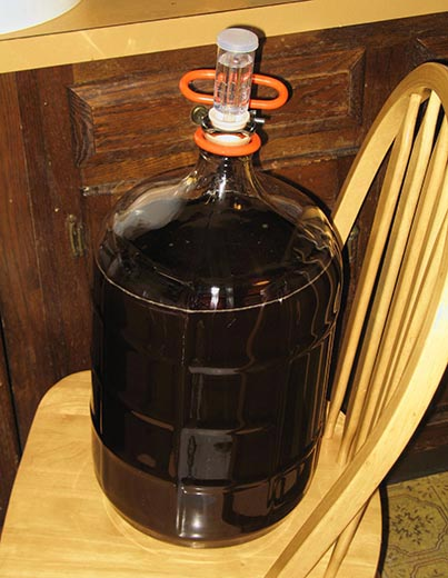 Glass Carboy Of Wine