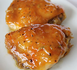 Chicken With Homebrew Beer Marmalade