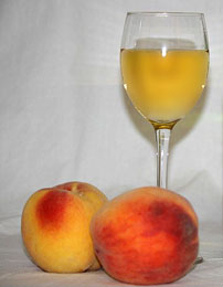 Cloudy Peach Wine