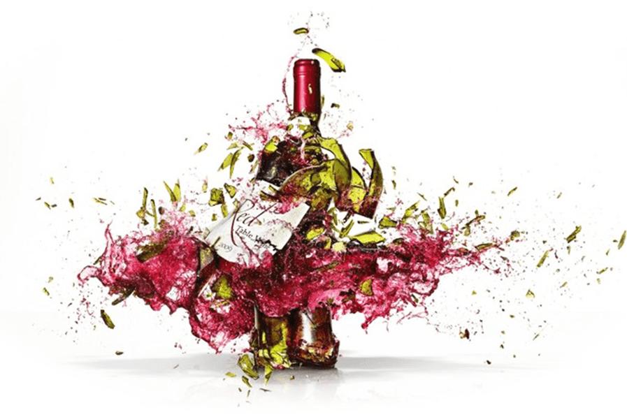 Exploding Wine Bottle