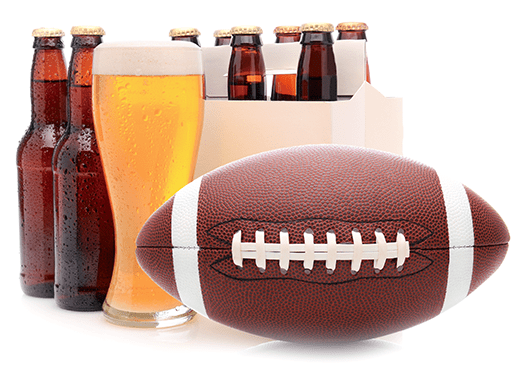 Beer made from homebrew recipe kit that goes good with football.
