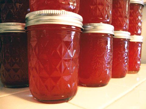 Fruit Juice In Canning Jars
