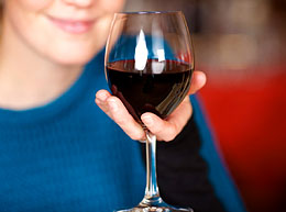 Glass Of Wine That Has A Woody Taste And Woody Smell