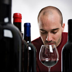 Man Smelling Easy Homemade Wine