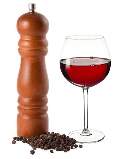 Peppery Flavor In Wine