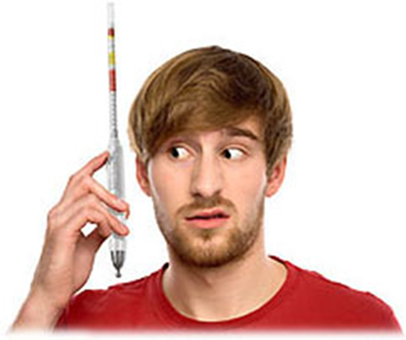 His Starting Hydrometer Reading Is Wrong