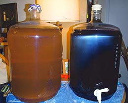 Two Carboys Full Of Homemade Wine