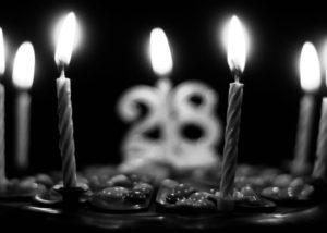 cake, celebration, candles, birthday, happy, black and white, daniella, new year