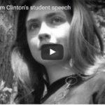 Hillary Clinton, hillary rodham clinton student speech the boomers civil war continues