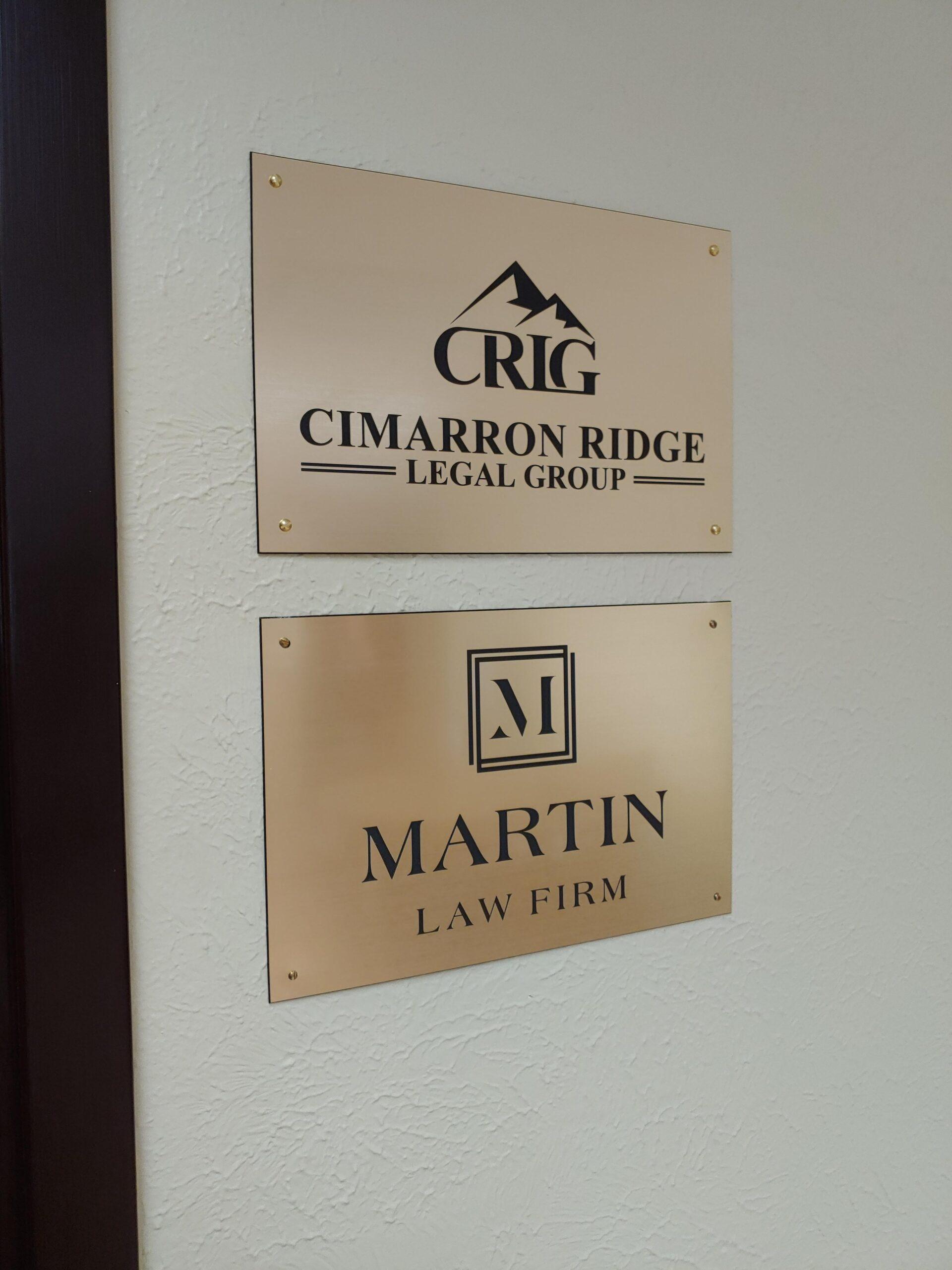 Martin Law Firm - Cimarron Ridge Office Signs