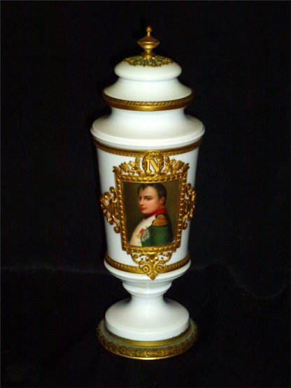 19th century French urn with painting of Napoleon.