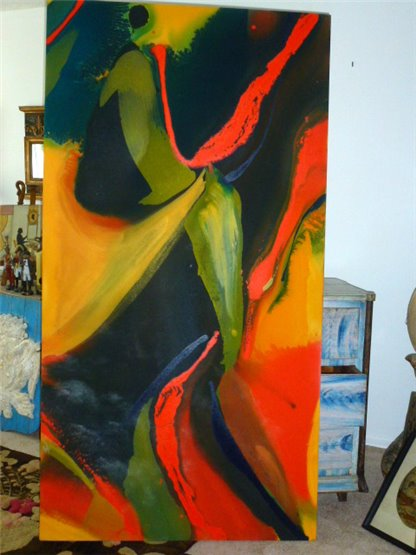Abstract Acrylic By Lila Irving Lewis (2nd panel)