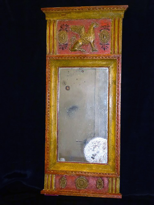 Swedish mirror with griffins