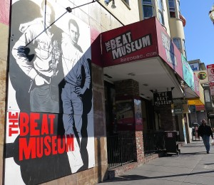 The Beat Museum, in North Beach section of San Francisco, where Alan Ginsburg used to live © 2015 Karen Rubin/news-photos-features.com