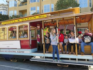We cap off the Fern Hill Walking Tour with a ride on the California cable car © 2015 Karen Rubin/news-photos-features.com