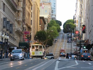Riding the San Francisco cable car © 2015 Karen Rubin/news-photos-features.com