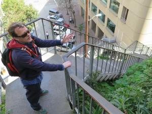 Walking down Filbert Street from Coit Tower, San Francisco© 2015 Karen Rubin/news-photos-features.com
