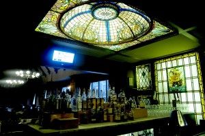Tiffany leaded glass decorates the bar at the historic Hotel Whitcomb, which opened in 1916 after serving as the City Hall © 2015 Karen Rubin/news-photos-features.com