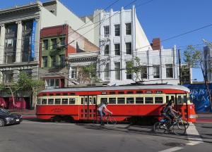 San Francisco's street cars, vintage 1930s and 1940s, come from all over the world  © 2015 Karen Rubin/news-photos-features.com