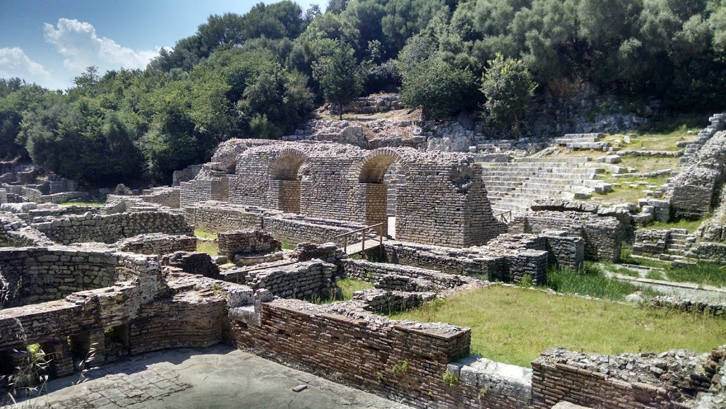 Unearthed ruins from the Hellenic period of the ancient city of Butrint © 2016 Karen Rubin/goingplacesfarandnear.com