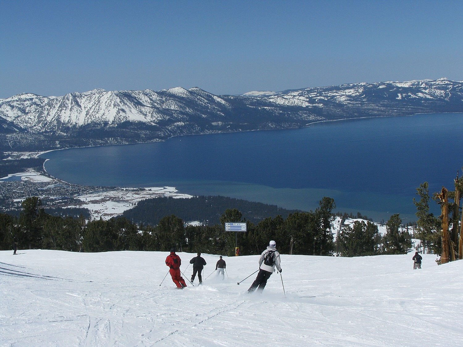 Heavenly Mountain at Lake Tahoe is part of Vail Resorts' Epic Pass which also gives access to resorts in Australia, France, Italy, Austria and Switzerland © 2016 Karen Rubin/goingplacesfarandnear.com