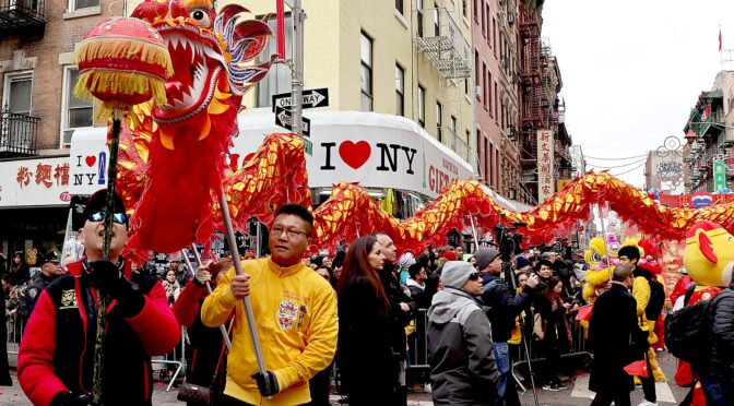 New Yorkers Show Solidarity with Chinese, Asian Community at Lunar New Year Parade