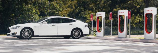 Tesla Supercharger site
