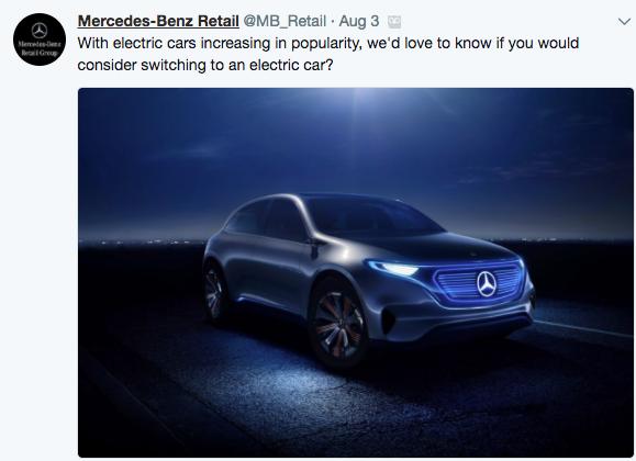 Mercedes-Benz Retail Tweet