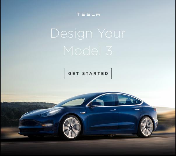 Tesla Model 3 Configure Email