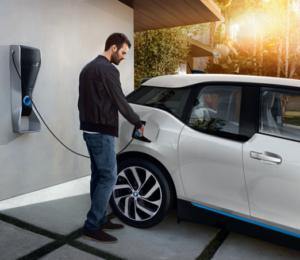 BMW i3 with man charging - V2G