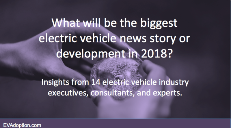 What will be the biggest EV story in 2018
