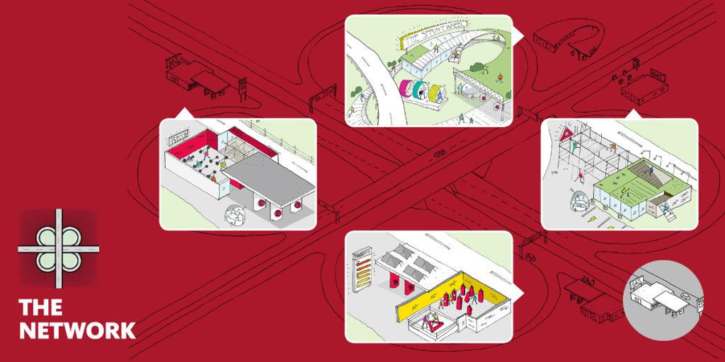 Reebok-Gensler Network EV fitness and charging center