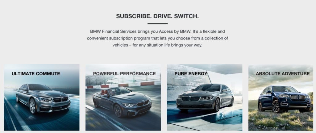 BMW Access auto subscription service
