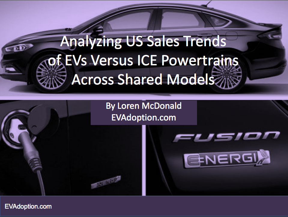 Exclusive Special Report: Analyzing US Sales Trends of EVs Versus ICE Powertrains Across Shared Models